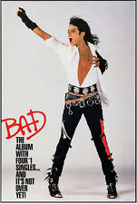 "Michael Jackson Bad Poster Replica 13x19"" Photo Print"