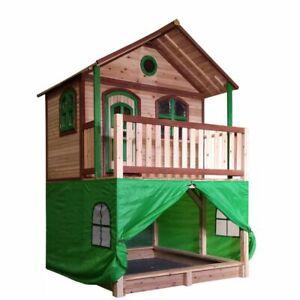 AXI Tente pour maison de jeu Vert Aire de jeux Portique de jeux pour enfant