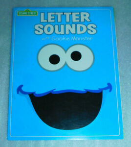 Sesame Street Letter Sounds Cookie Monster PreK K Workbook Alphabet Vowels