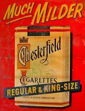 """TIN SIGN """"Chesterfield Much Milder """"Nicotine Deco Garage Wall Decor"""