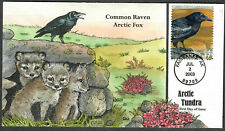 US Collins FDC Sc#3802c Common Raven & Arctic Fox