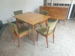 Alfred Cox for Heals of London Mid Century Extending dining table & 4  chairs