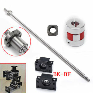 SFU2505 C7 5mm Ball Screw pitch travel BK/BF20&Support Coupler&Ball nut L1000mm