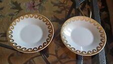 2 IDG smal white gold plates