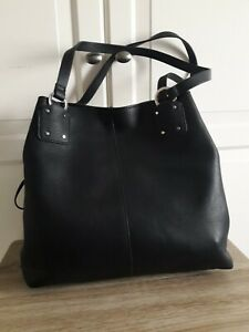 Marks And Spencer (M&S COLLECTION) Three compartment Large Black Hobo Bag