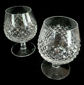 """Pair Waterford Crystal ALANA Brandy Snifter Glasses 5 1/8"""" Made In Ireland 2"""