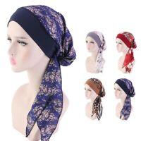 Women Cancer Hat Chemo Cap Muslim Hair Loss Head Scarf Turban Head Wrap Cover~~