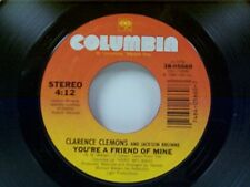 """CLARENCE CLEMONS """"YOU'RE A FRIEND OF MINE / LET THE MUSIC SAY IT"""" 45 MINT"""