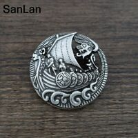 Viking Pirate Sailing Norse Nordic Dragon Boat Ship Cloak Brooch Pin Jewelry