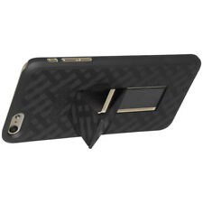 AMZER SNAP ON HARD SHELL BACK CASE COVER STAND FOR APPLE IPHONE 6 - BLACK