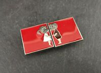 Art Deco novelty belt buckles, kissing couple