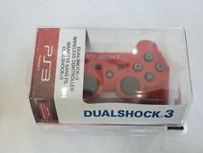 Officiail OEM Sony Playstation 3 PS3 Dual Shock Dualshock 3 Red Controller NEW