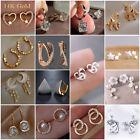 Fashion 925 Silver White Sapphire Stud Earrings Women Wedding Party Jewelry Gift
