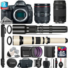 Canon EOS 5D Mark IV + 24-105mm 4L IS II + 75-300mm III + 500-1300mm - 32GB Kit