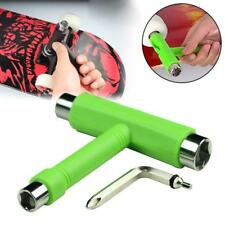 Skate T TOOL Skateboard Longboard Metal All In One Tool Wrench Roller Green GA