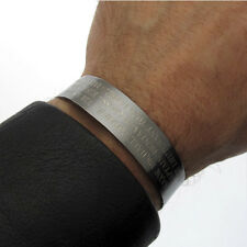 Wide Sterling Silver Hero Cuff -  Black KIA Bracelet with Custom Engraved text