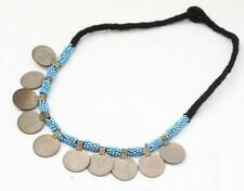 TRIBAL BANJARA KUCHI COINS RARE BELLY DANCE BOHO VINTAGE GYPSY NECKLACE