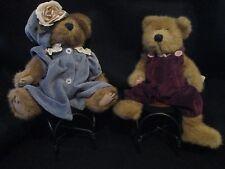 Boyds Bears  Set of 2 Plush Bears Mrs. Beartwell & Claire *PLUS 2 BONUS CHAIRS*