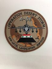 "Desert Storm Embroidered Patch Badge 4"" inch diameter"