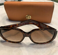 Authentic Pre Owned Tory Burch sunglasses TY7140 57mm Tortoise Brown Gradient#2