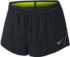 "NIKE Mens Sz XL AeroSwift 2"" Running Workout Shorts Black Volt 717877 010 $80"