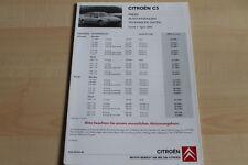 98621) Citroen C5 - Preise & tech. Daten & Ausstattungen - Prospekt 04/2005