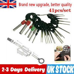 41PC UK WIRE TERMINAL REMOVAL TOOL KIT CAR ELECTRICAL CRIMP WIRING CONNECTOR PIN