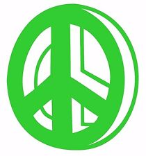 20cm PEACE SYMBOL sticker decal.Car,caravan,window wall room art.26 colours!