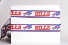 "Buffalo Bills 7/8"" Grosgrain Ribbon 1, 3, 5, 10 Yards Nfl Football Ship From Usa"