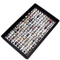 Wholesale MIX LOT Stainless Steel rings Wholesale Men Women Fashion Jewelry FREE