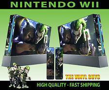 NINTENDO WII STICKER JOKER AND HARLEY CRAZY LOVE GOTHAM SKIN GRAPHIC & PAD SKINS