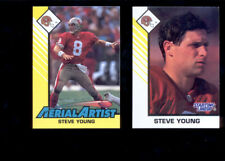 1993 Kenner SLU STEVE YOUNG 49ers Starting Lineup Card + Aerial Artist Card