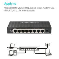 8-Port 100M Ethernet Network Switch Desktop Internet Splitter Network Switch