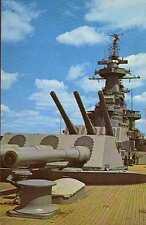 WILMINGTON NC WW2 Battleship USS Willmington Deck 16 inch Guns postcard