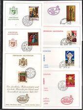LIECHTENSTEIN / 1985 A 1991 - 7 CARTES DE VOEUX DE NOEL (ref 5737)