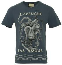 "NEW GUCCI COTTON ""L'Aveugle Par Amour"" OCTOPUS CREWNECK SHIRT T-SHIRT S"