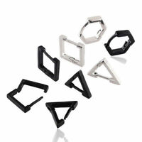 1pair Triangle Square Stainless Rhombus Steel Men Women eardrop EarringsDangler