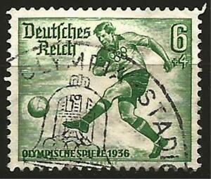 Germany Third Reich 1936 Used - Olympic Games  Footballer - Mi 611 - SG 608