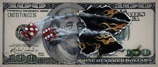 Michael Godard $100 BILL W/DICE S/N SNAKE EYES giclee canvas #68/200