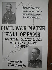 SIGNED  Civil War: Maine Hall of Fame Political Judicial and Military Leaders