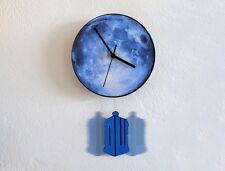 Tardis Swinging on the Moon - Pendulum Wall Clock