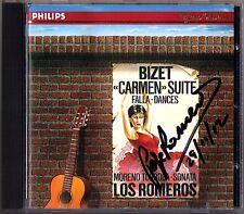 Pepe ROMERO Signiert BIZET Carmen TORROBA Sonatina Trianera CD LOS ROMEROS Angel