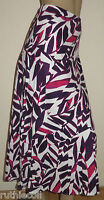 BNWT Marks & Spencer Per Una Purple Linen Mix Palm Print Skirt RRP £35