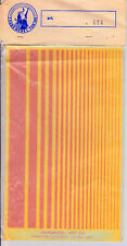 TAURO MODEL 424 - DECALS ORANGE DAY GLO STRIPES 0.5mm a 20mm