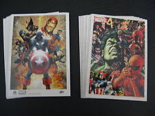 2011 MARVEL UNIVERSE GET BOTH ARTIST DRAFT AND ORIGINALS  COMPLETE CHASE SETS