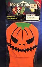 Morphsuits Morphmask - orange pumpkin jack-o-lantern - onesize age 12+ NIP