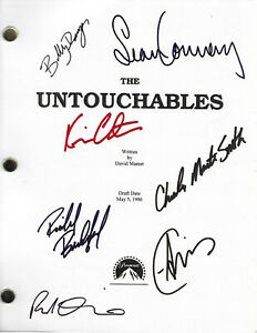 SIGNED Script~The Untouchables~by David Mamet Sean Connery Kevin Costner reprint