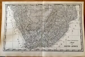 "Antique 1906 Scenic-Topographical Map of South Africa Gallery Wall Art 22"" x 14"