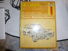 Haynes Owners Workshop Manual. Hillman/Chrysler Hunter & Minx. 1966/78