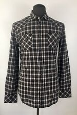DIESEL Men's SULF-1 Long-Sleeve Casual Plaid Shirt Size L (F284)